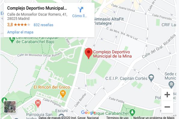 """Localización CMD """" La Mina"""""""